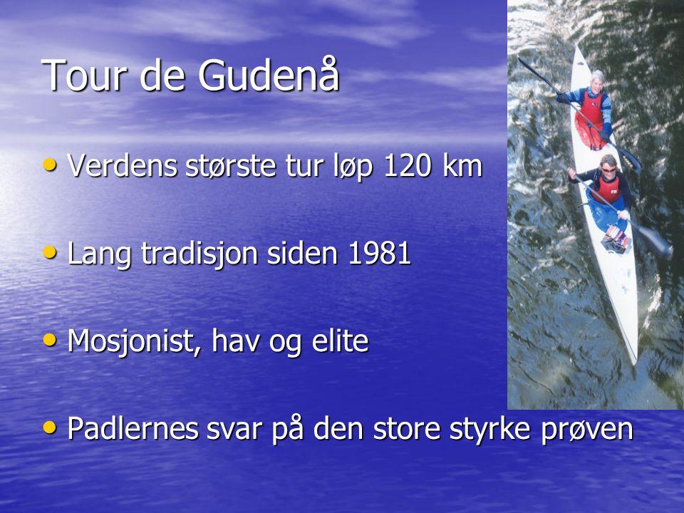 • Verdens største tur løp 120 km • Lang tradisjon siden 1981 • Mosjonist, hav og elite • Padlernes svar på den store styrke prøven