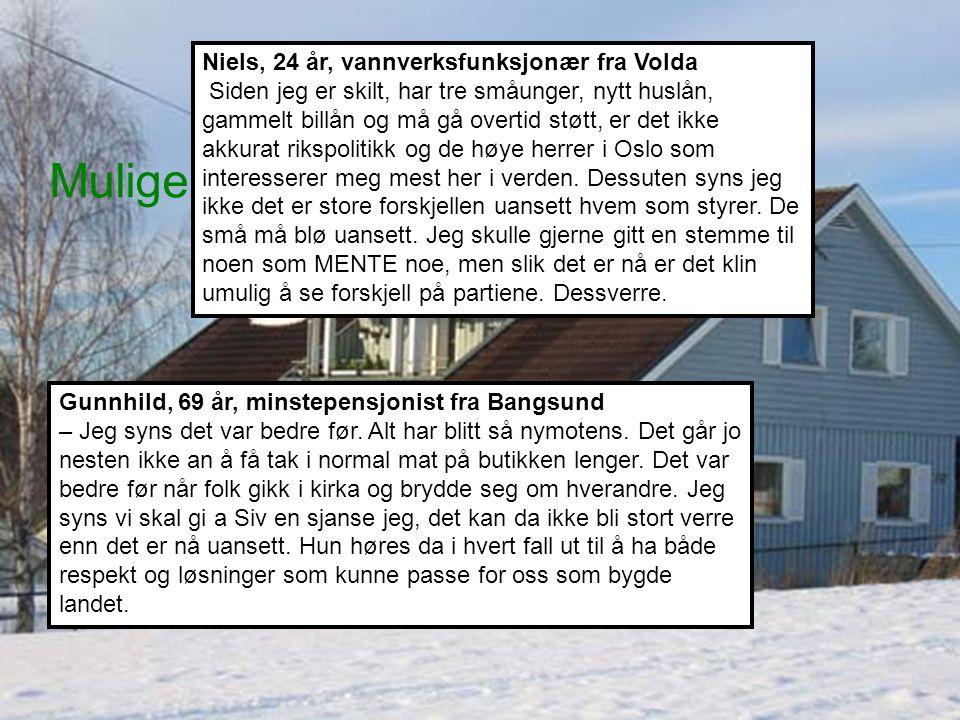 Mulige land Gunnhild, 69 år, minstepensjonist fra Bangsund – Jeg syns det var bedre før.