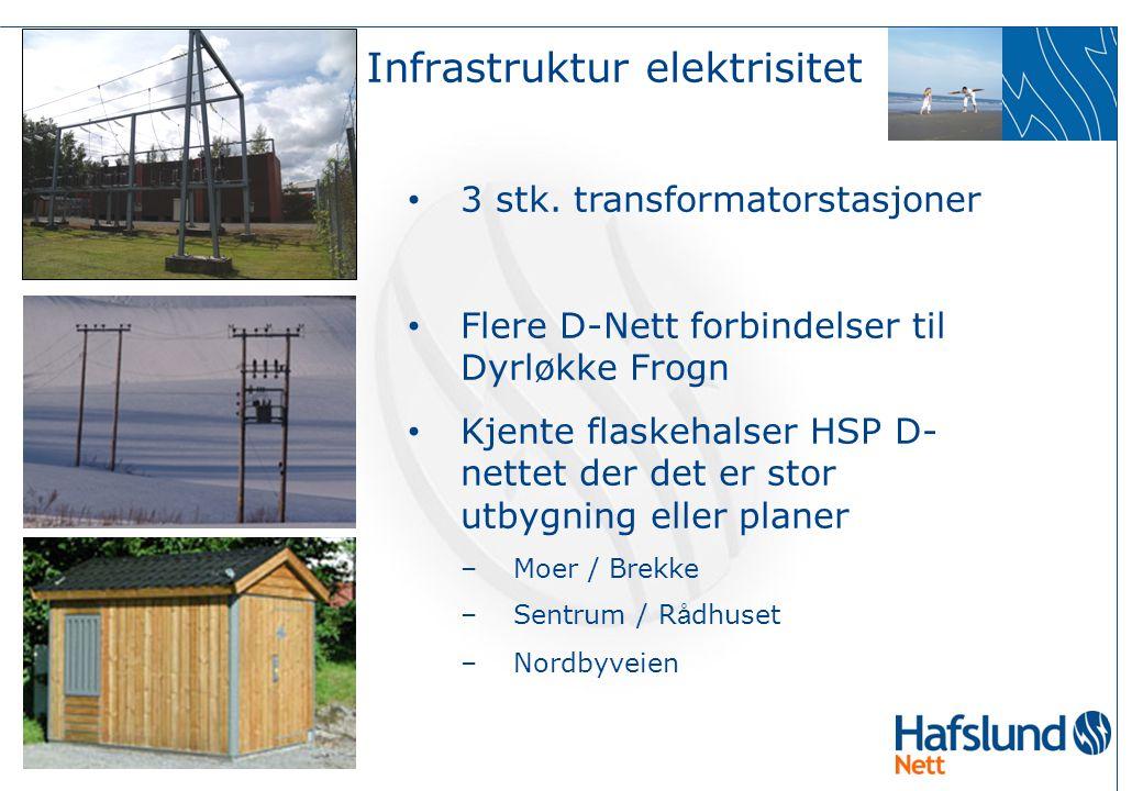  20  Lokal energiutredning 2007 Ås kommune • 3 stk. transformatorstasjoner • Flere D-Nett forbindelser til Dyrløkke Frogn • Kjente flaskehalser HSP