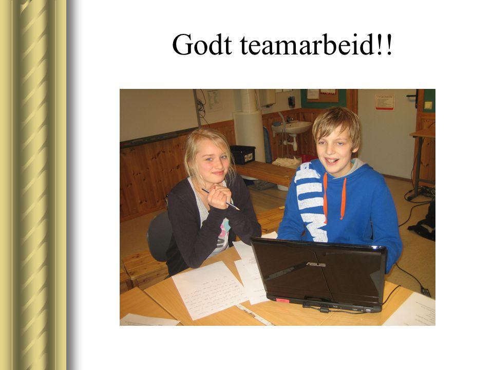 Godt teamarbeid!!