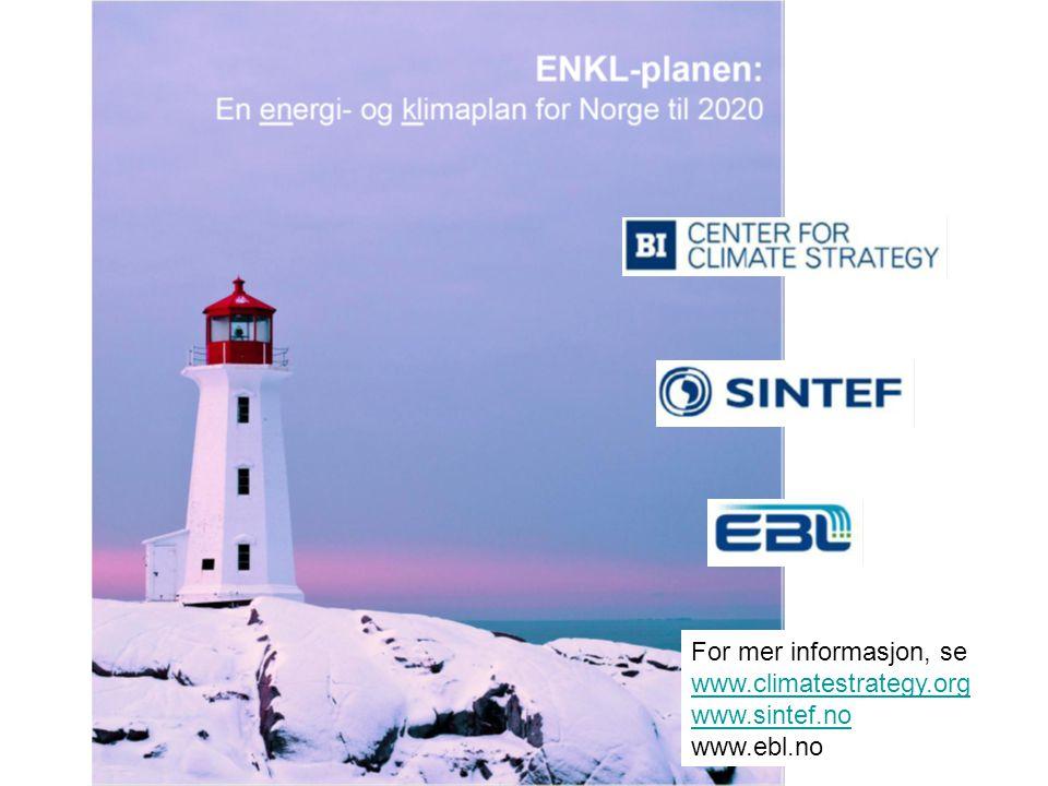For mer informasjon, se www.climatestrategy.org www.sintef.no www.ebl.no