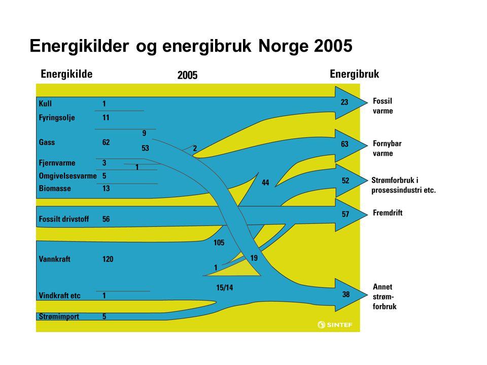 Energikilder og energibruk Norge 2005