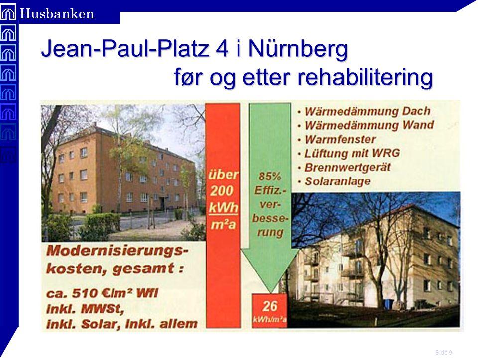 Side 30 Husbanken Erfaringene viser: Ved rehabilitering med passivhuskomponenter kan årlig oppvarmings- behov reduseres til - 55 kWh/m² med innvendig isolasjon - 25 kWh/m² med utvendig isolasjon