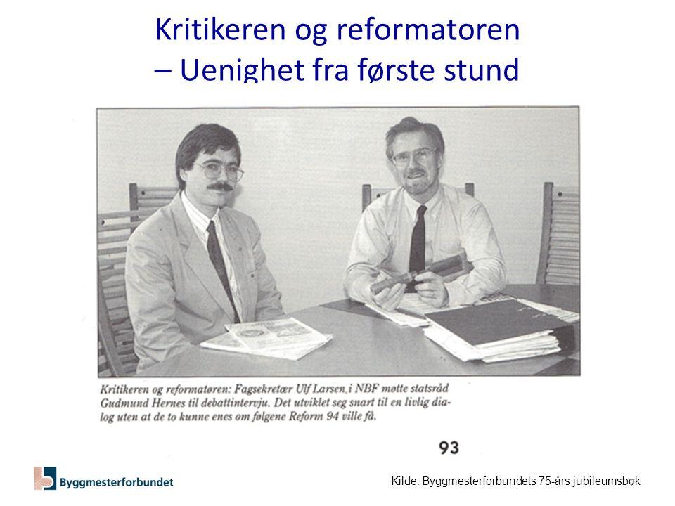 Kritikeren og reformatoren – Uenighet fra første stund Kilde: Byggmesterforbundets 75-års jubileumsbok 7