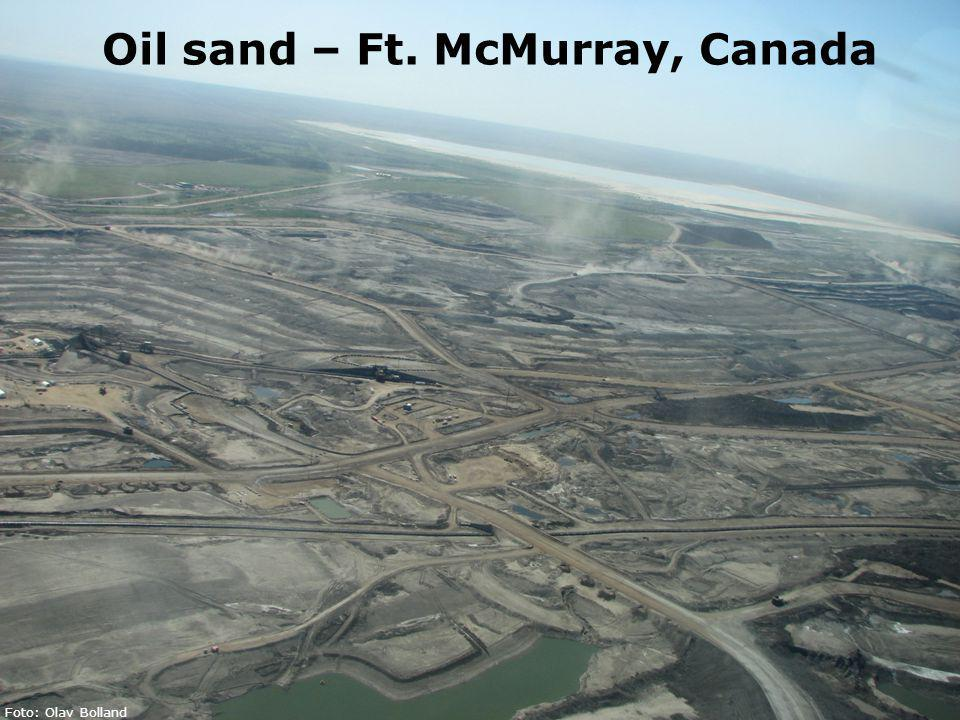 5 Gassteknisk Senter NTNU – SINTEF Olav Bolland Oil sand – Ft. McMurray, Canada Foto: Olav Bolland
