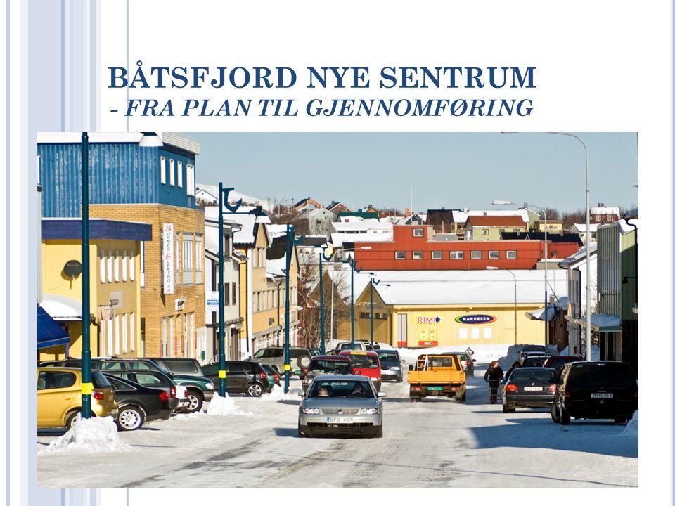 SENTRUMSUTVIKLING Startet et forprosjekt i 2004 Handlet om flere ting - Vann og avløp - Statens veivesen; Fortau og trafikksikring - Kommunen; Universell utforming