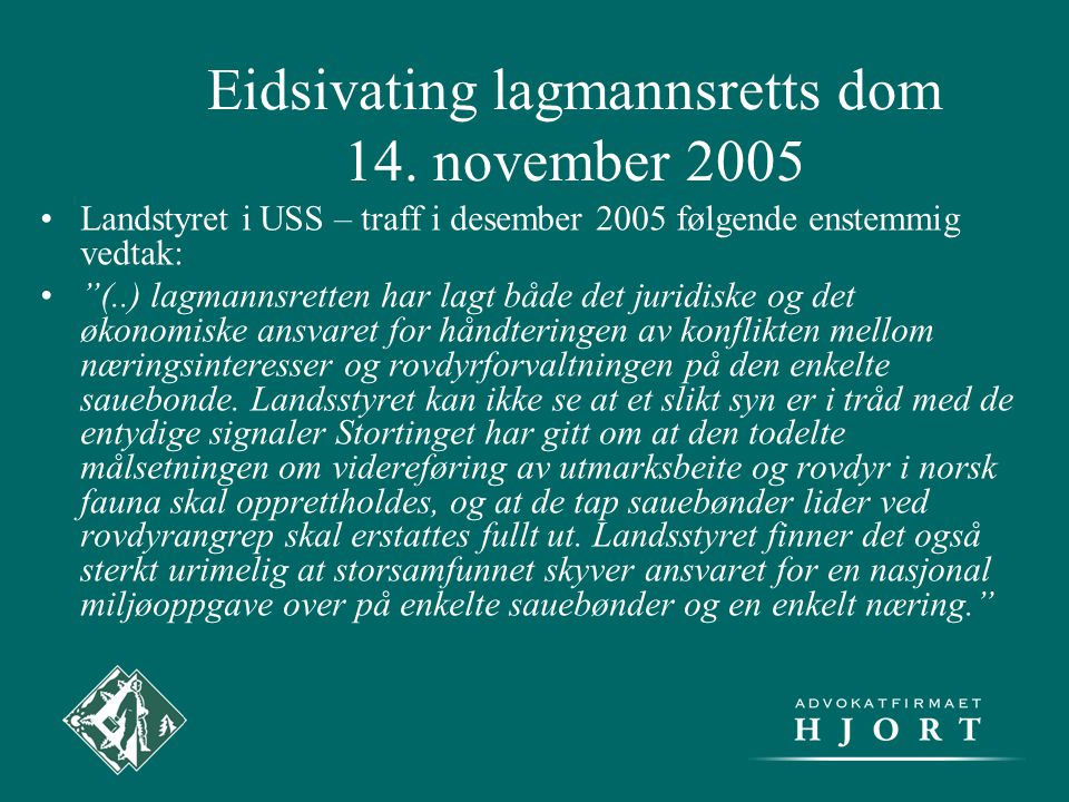 Eidsivating lagmannsretts dom 14.