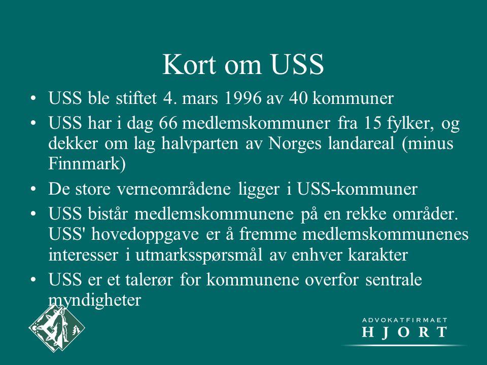 Kort om USS •USS ble stiftet 4. mars 1996 av 40 kommuner •USS har i dag 66 medlemskommuner fra 15 fylker, og dekker om lag halvparten av Norges landar