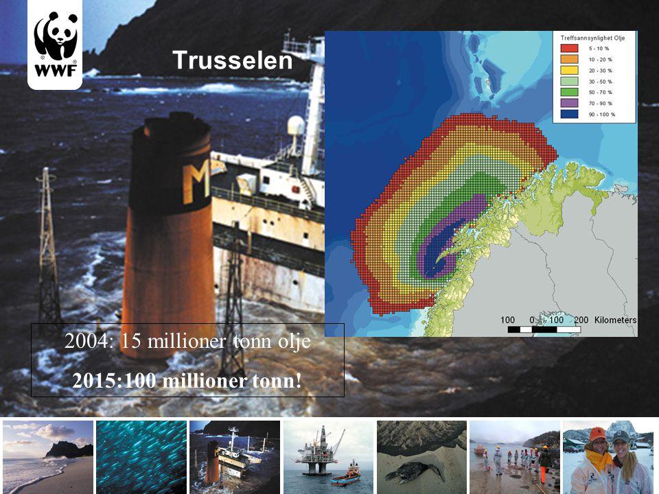 Trusselen 2004: 15 millioner tonn olje 2015:100 millioner tonn!