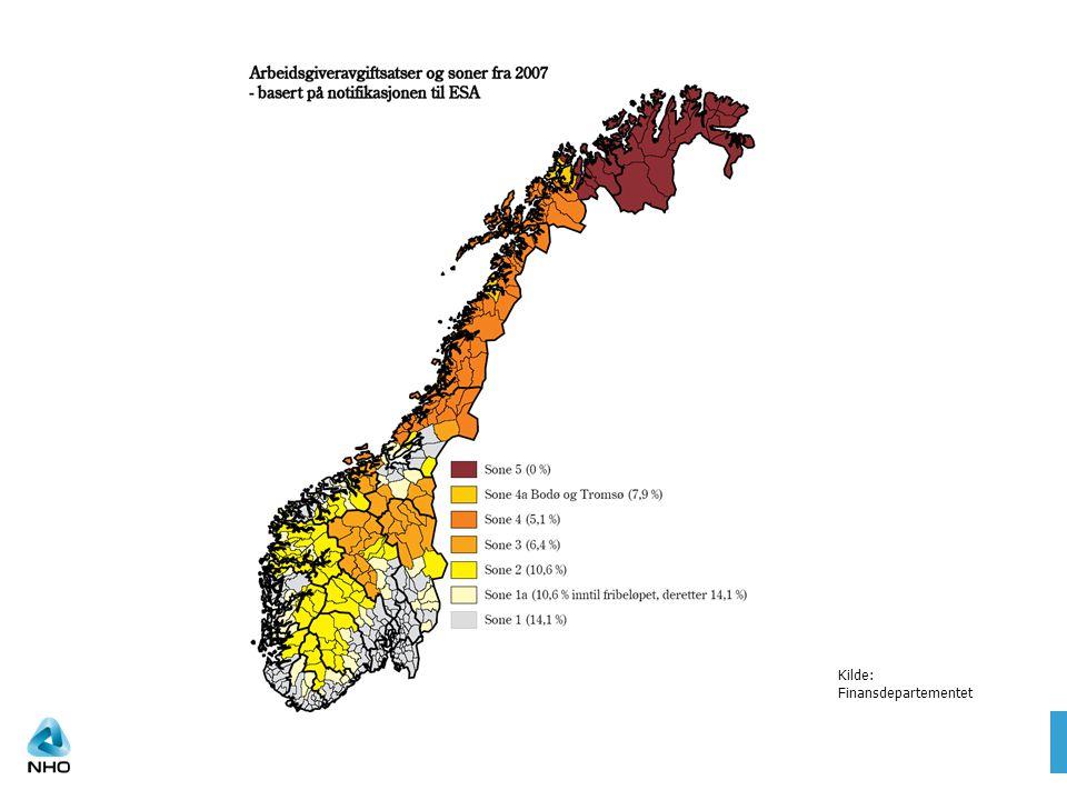 Satsene i prosent 20032007 Sone 500 Sone 45,1 Sone 4a ( Bodø og Tromsø) 5,17,9 Sone 36,4 Sone 210,6 Sone 1a ( gamle sone 2) 10,6 10,6 innenfor fribeløpet 14,1 over Sone 114,1