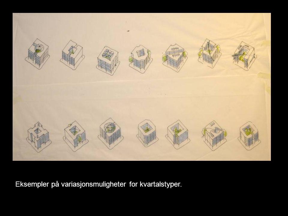 Eksempler på variasjonsmuligheter for kvartalstyper.