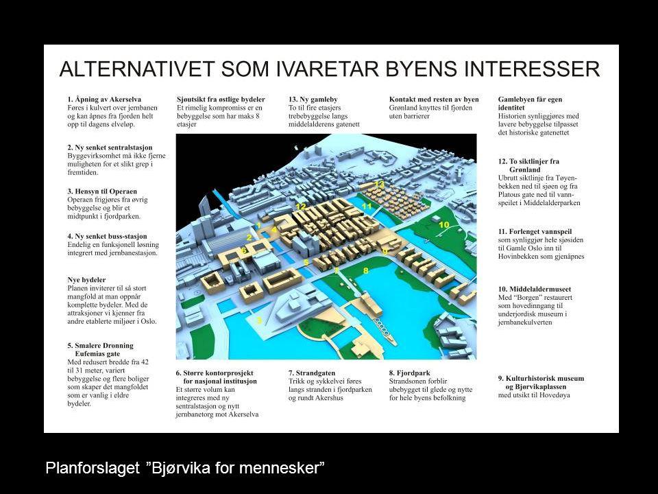 Planforslaget Bjørvika for mennesker