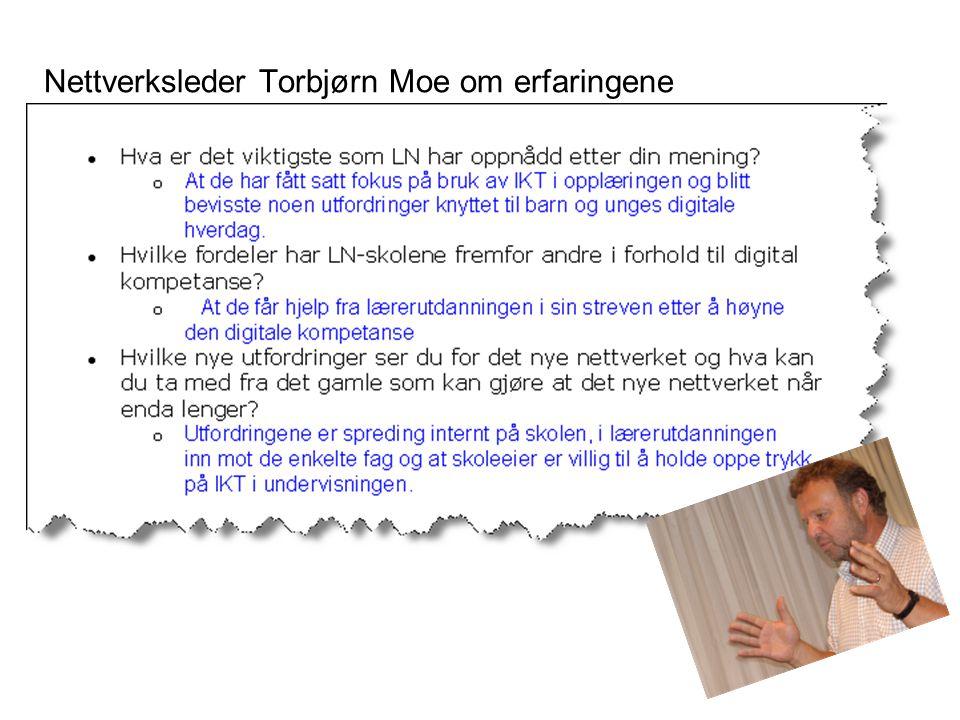 Nettverksleder Torbjørn Moe om erfaringene