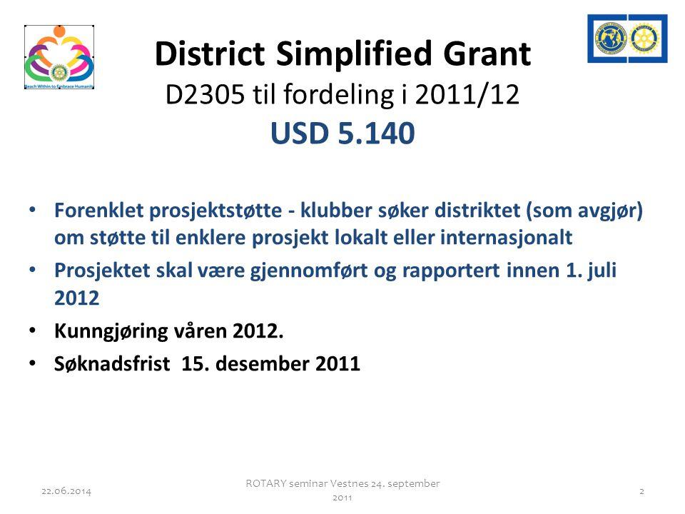 Fortsettelse • Årets DSG fond USD 5.140 • Søknad sendes: – DRFCC John Stennes – john@stennes.net john@stennes.net – Frist 15.