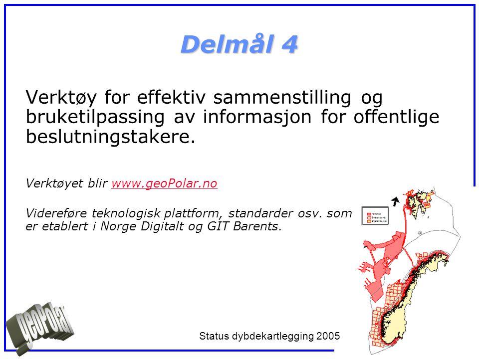 Delmål 4 Verktøy for effektiv sammenstilling og bruketilpassing av informasjon for offentlige beslutningstakere. Verktøyet blir www.geoPolar.nowww.geo