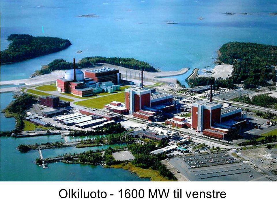 Olkiluoto - 1600 MW til venstre