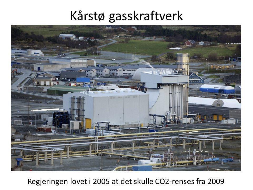Kårstø gasskraftverk Regjeringen lovet i 2005 at det skulle CO2-renses fra 2009