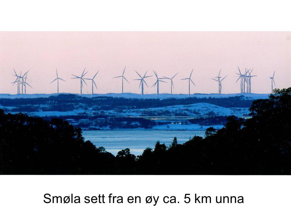 Smøla sett fra Kristiansund, ca. 3 mil unna