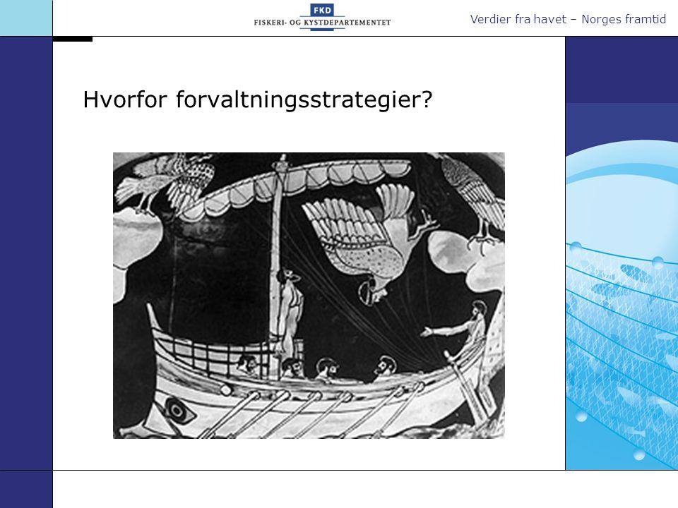 Verdier fra havet – Norges framtid Hvorfor forvaltningsstrategier?