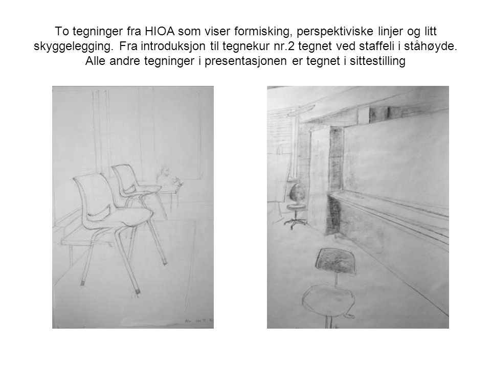 Tegning av rom.Fra en datakrok.