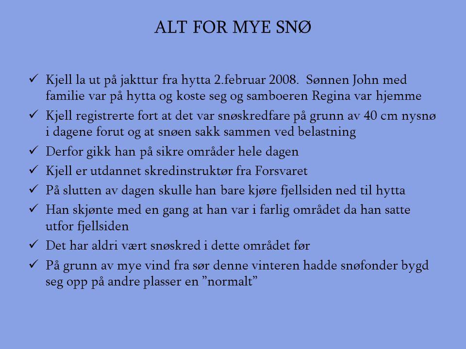 ALT FOR MYE SNØ  Kjell la ut på jakttur fra hytta 2.februar 2008.