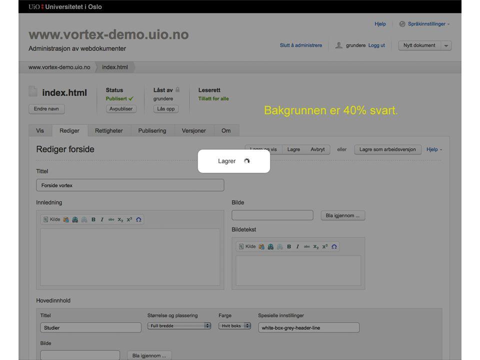 Dynamiske lenkesjekkrapporter • Alle mapper får egen oppdatert lenkesjekkerapport for underliggende filer • Du ser lenkebrudd fra alle filer du har lesetilgang til