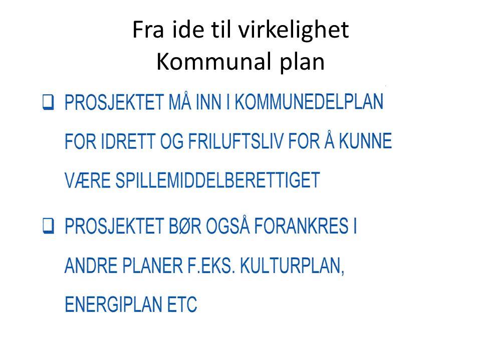 Fra ide til virkelighet Kommunal plan