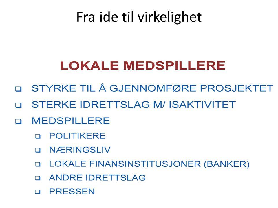 • Mål Kostnad: Aktivitetshall:+- 20MNOK Eliteseriehall+-50 MNOK Levering: Få minst 5 norske firmaer som leverandører, slik at kommunen/idrettslag kan kjøpe et ferdig produkt.