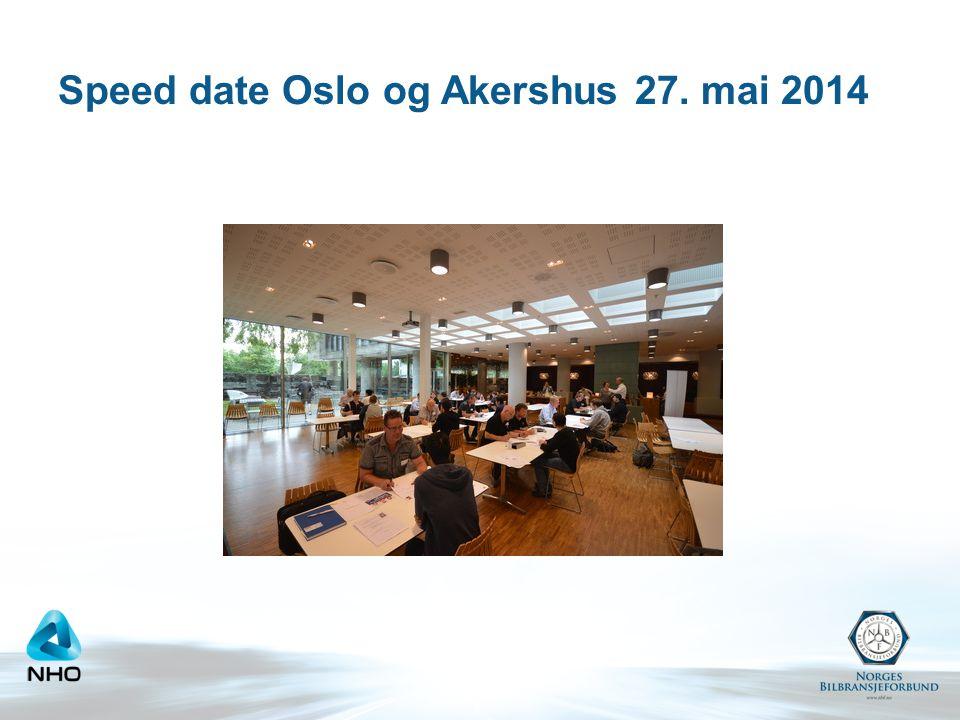 Speed date Oslo og Akershus 27. mai 2014