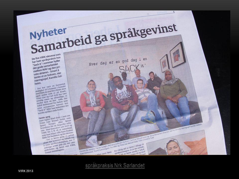 språkpraksis Nrk Sørlandet