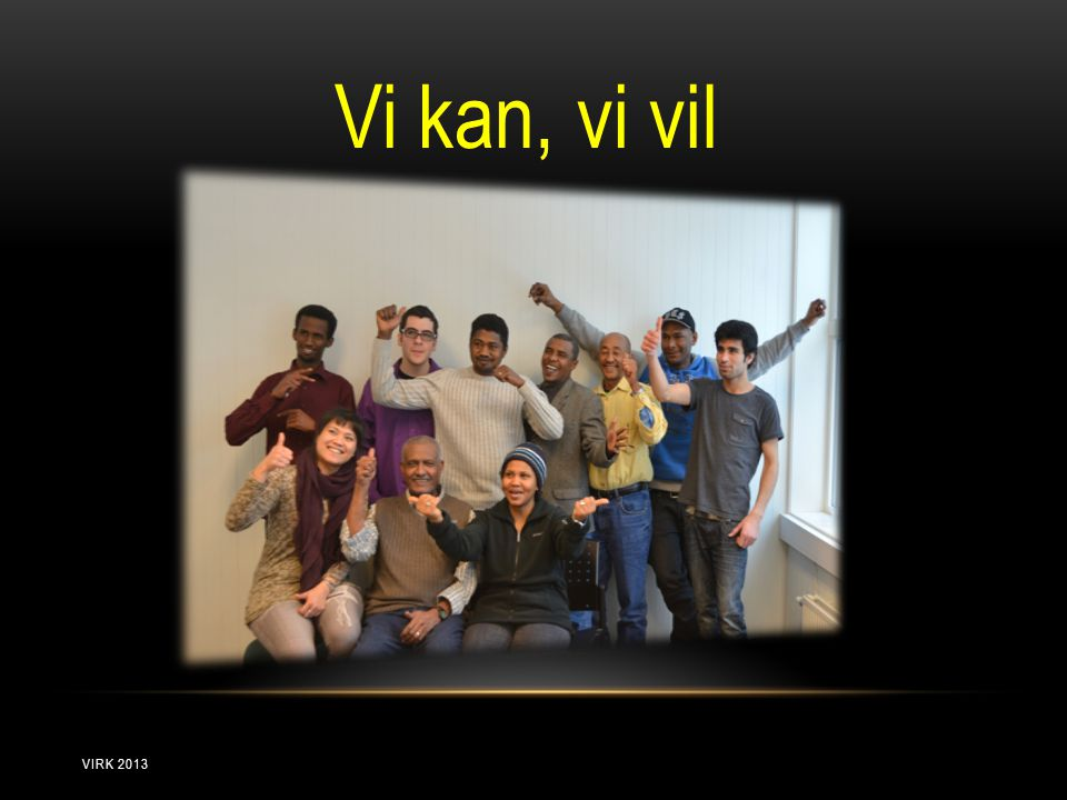 Vi kan, vi vil VIRK 2013