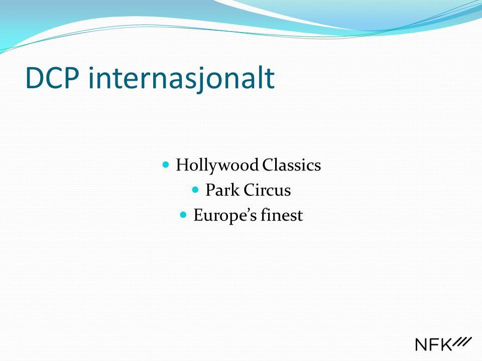 DCP internasjonalt  Hollywood Classics  Park Circus  Europe's finest