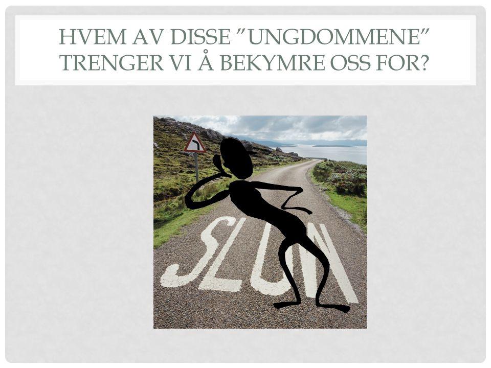 HVEM AV DISSE UNGDOMMENE TRENGER VI Å BEKYMRE OSS FOR?