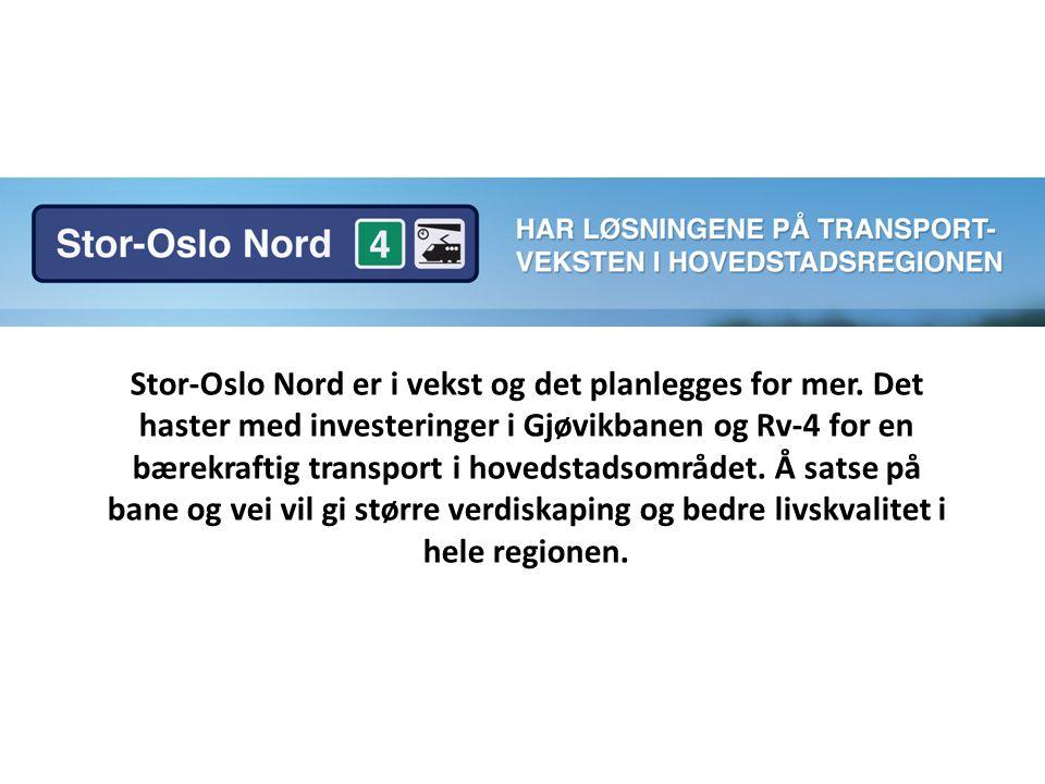 Stor-Oslo Nord er i vekst og det planlegges for mer.
