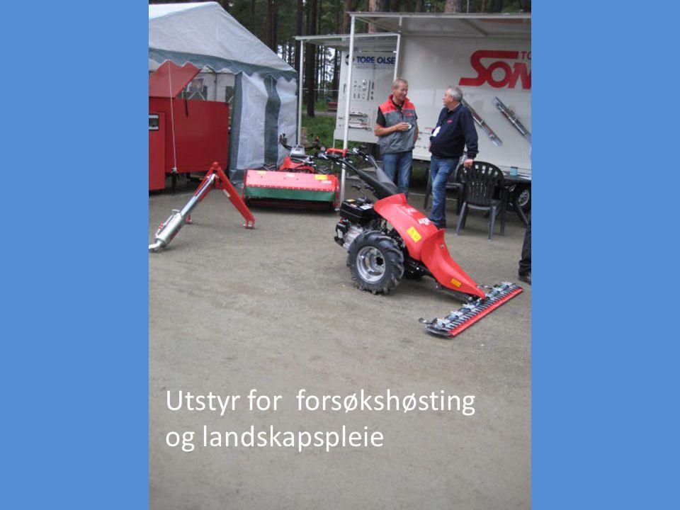 Utstyr for forsøkshøsting og landskapspleie