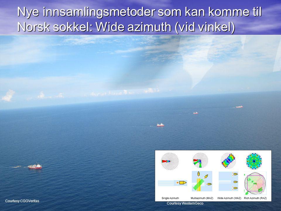 21 Nye innsamlingsmetoder som kan komme til Norsk sokkel: Wide azimuth (vid vinkel) Courtesy WesternGeco Courtesy CGGVeritas