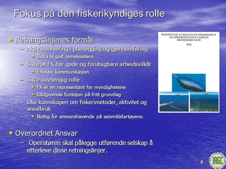 8 • Retningslinjenes formål –Aktiv involvering i planlegging og gjennomføring • Bidra til god sameksistens –Sikre at FK har gode og forutsigbare arbei