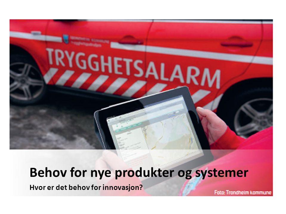 Behov for nye produkter og systemer Hvor er det behov for innovasjon?