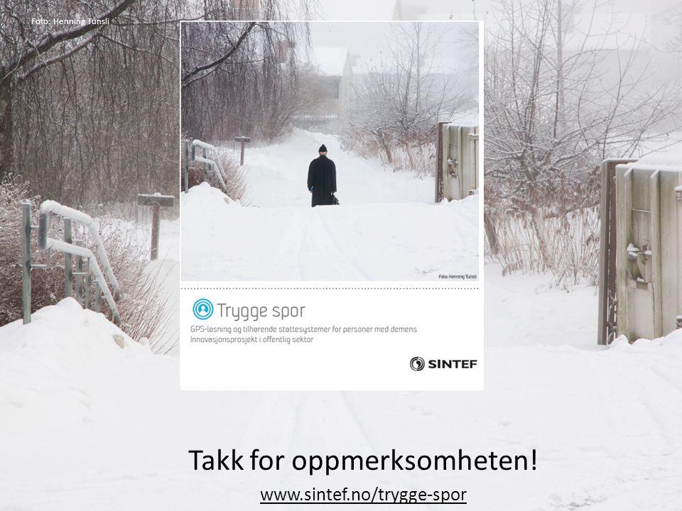 Takk for oppmerksomheten! www.sintef.no/trygge-spor AAATE 2013 Foto: Henning Tunsli