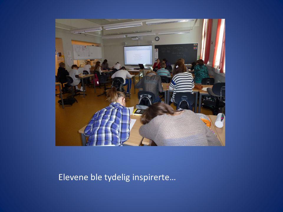 Elevene ble tydelig inspirerte…