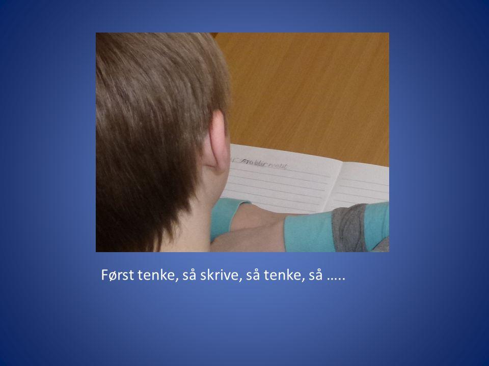 Først tenke, så skrive, så tenke, så …..