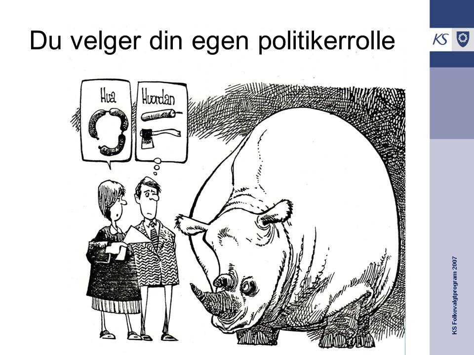 KS Folkevalgtprogram 2007 Du velger din egen politikerrolle