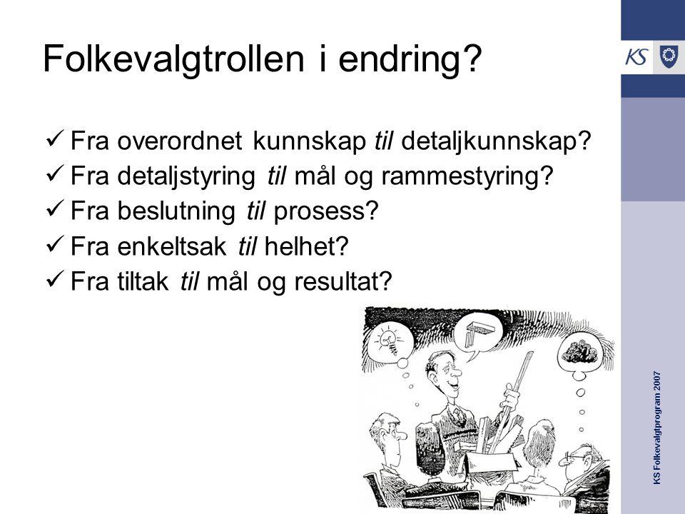 KS Folkevalgtprogram 2007 Folkevalgtrollen i endring.