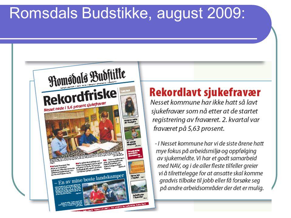 Romsdals Budstikke, august 2009: