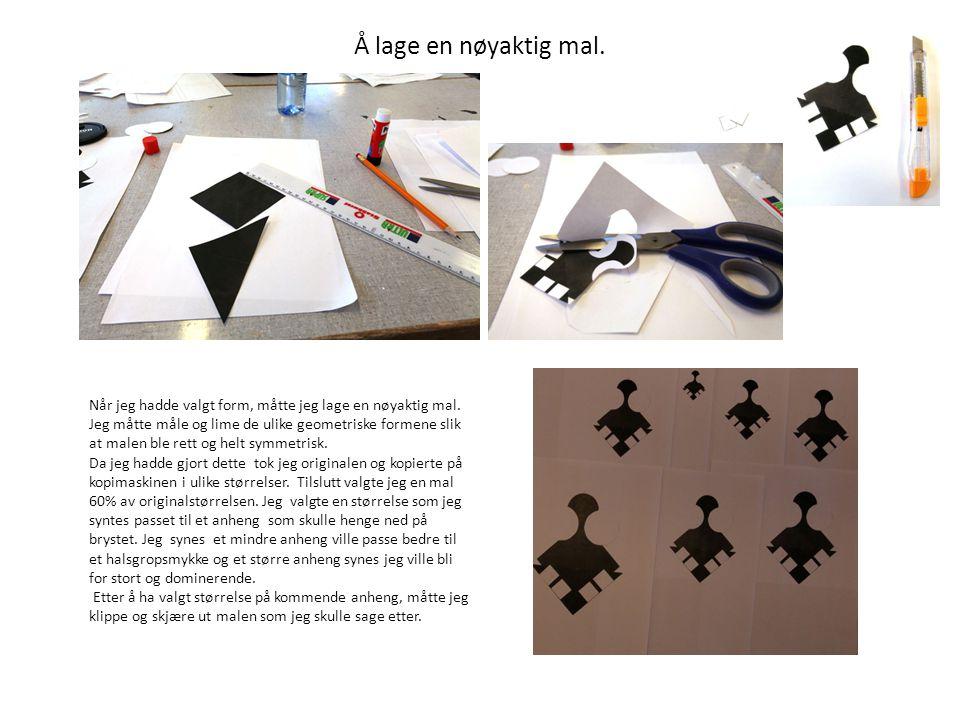 Overføring av mal til kobberplate.Papirmalen ble limt til en kobberplate(1mm).