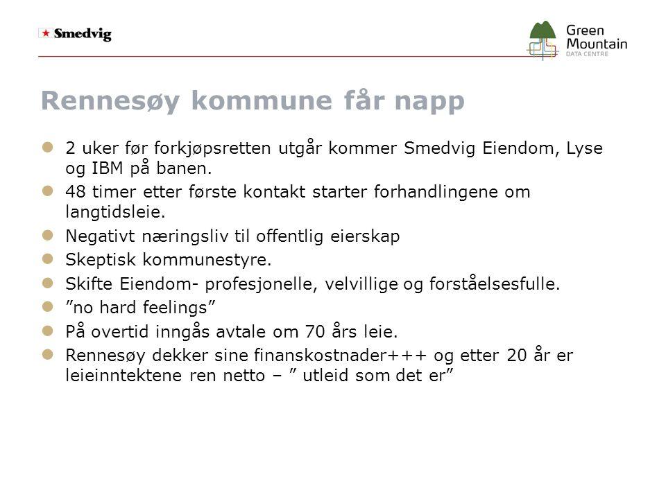 Rennesøy kommune får napp ● 2 uker før forkjøpsretten utgår kommer Smedvig Eiendom, Lyse og IBM på banen.