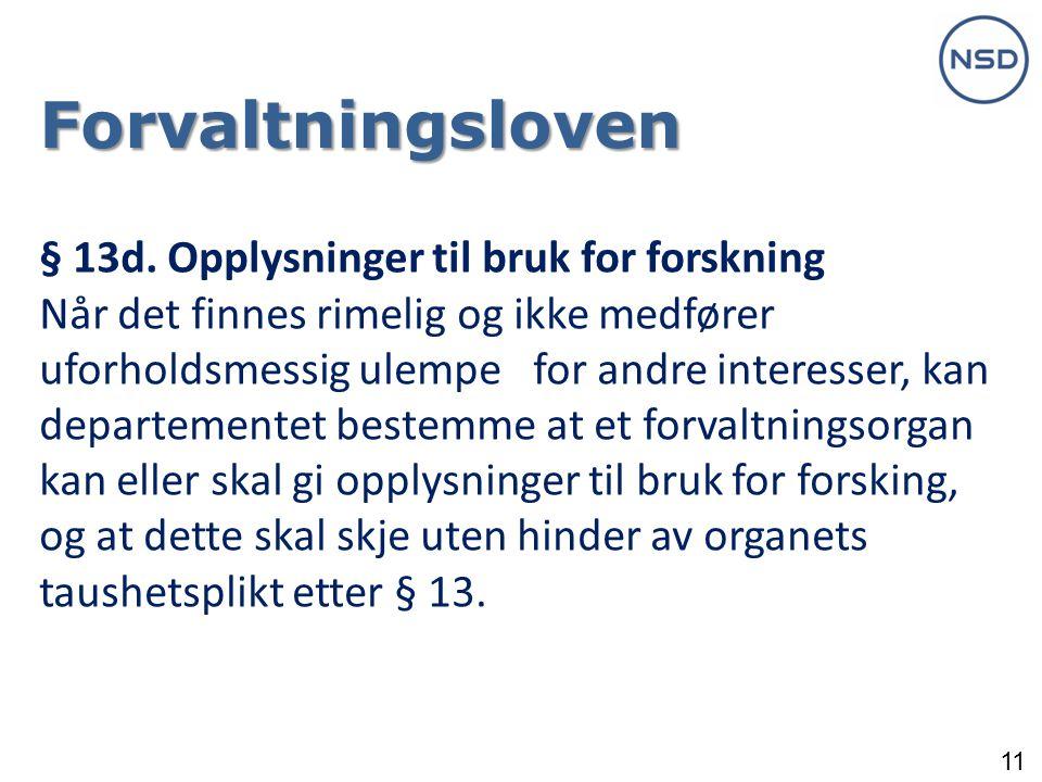 11 Forvaltningsloven § 13d.