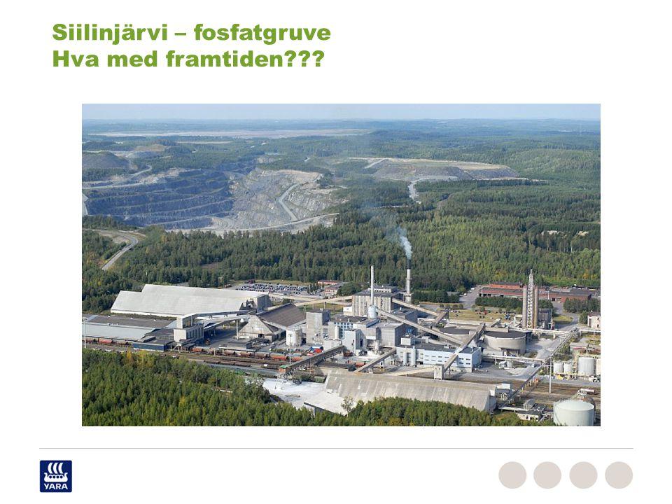 Siilinjärvi – fosfatgruve Hva med framtiden???