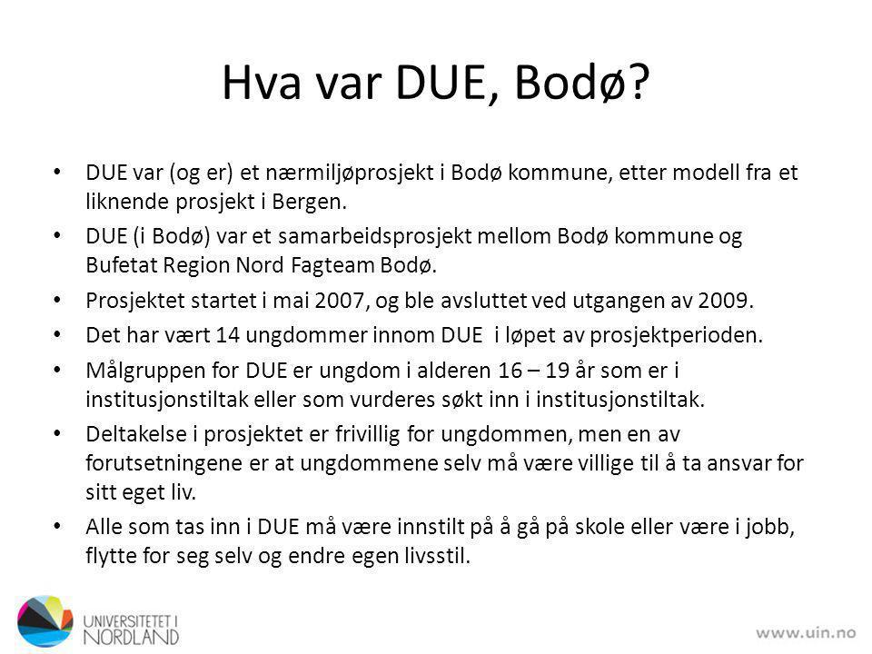 Hva var DUE, Bodø.
