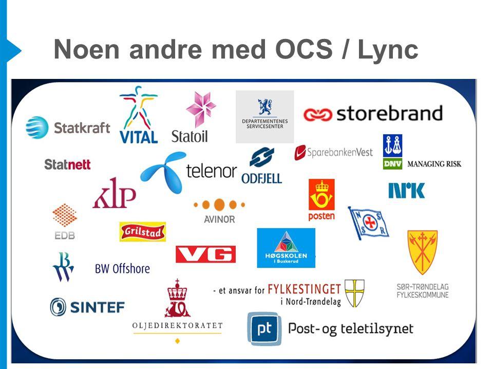 Noen andre med OCS / Lync